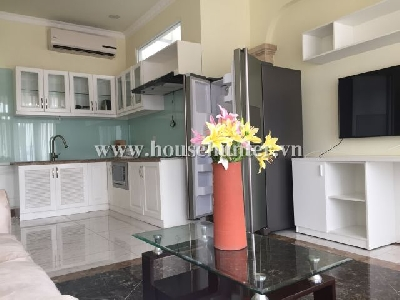 Luxury 1 bedroom service apartment with out door yard for barbecue, location in Tran Dinh Xu st. D. 1.