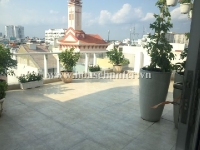One bedroom service apartment with great balcony in D. 1