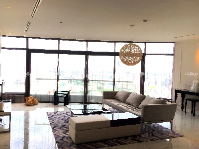 Penthouse City Garden 3 bedroom, furnished and high-end furniture